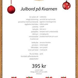 Julbord på Kvarnen