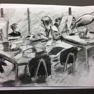 Teckna i kol och blyerts
