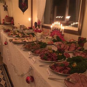 Julbord i yttersta havsbandet på Söderarms fyrplats!