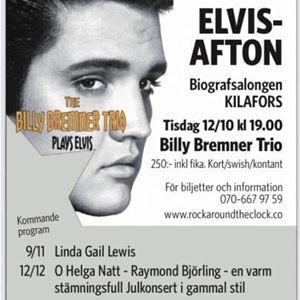 Elvisafton i Biografteatern Kilafors med Billy Bremner trio