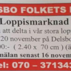Loppismarknad: Delsbo Folkets Hus