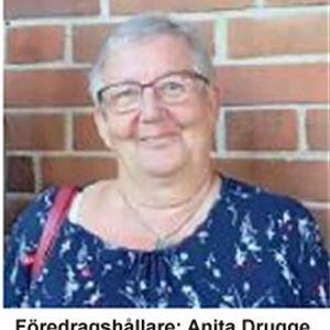 Anita Drugge håller föredrag om  Kerstin Hesselgren!