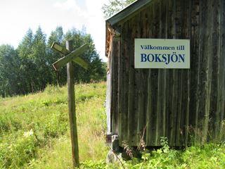 Boksjön och led till Kopparberg på Väretsfjället