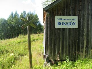 Boksjön and trail to Kopparberg, Väretsfjället mountain