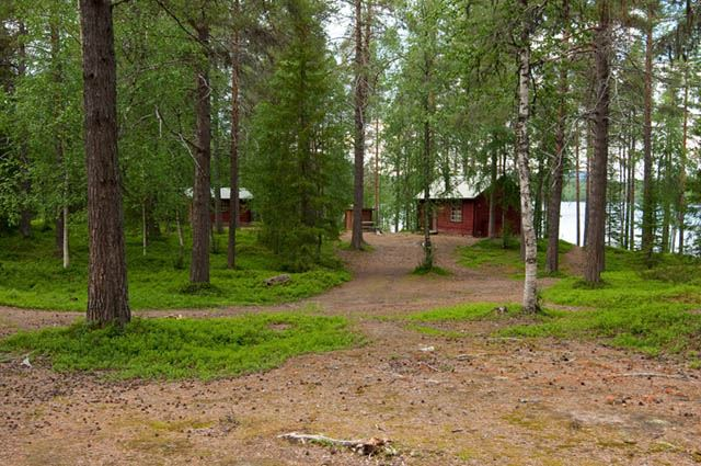 Wilderness accommodation at Laggträsket