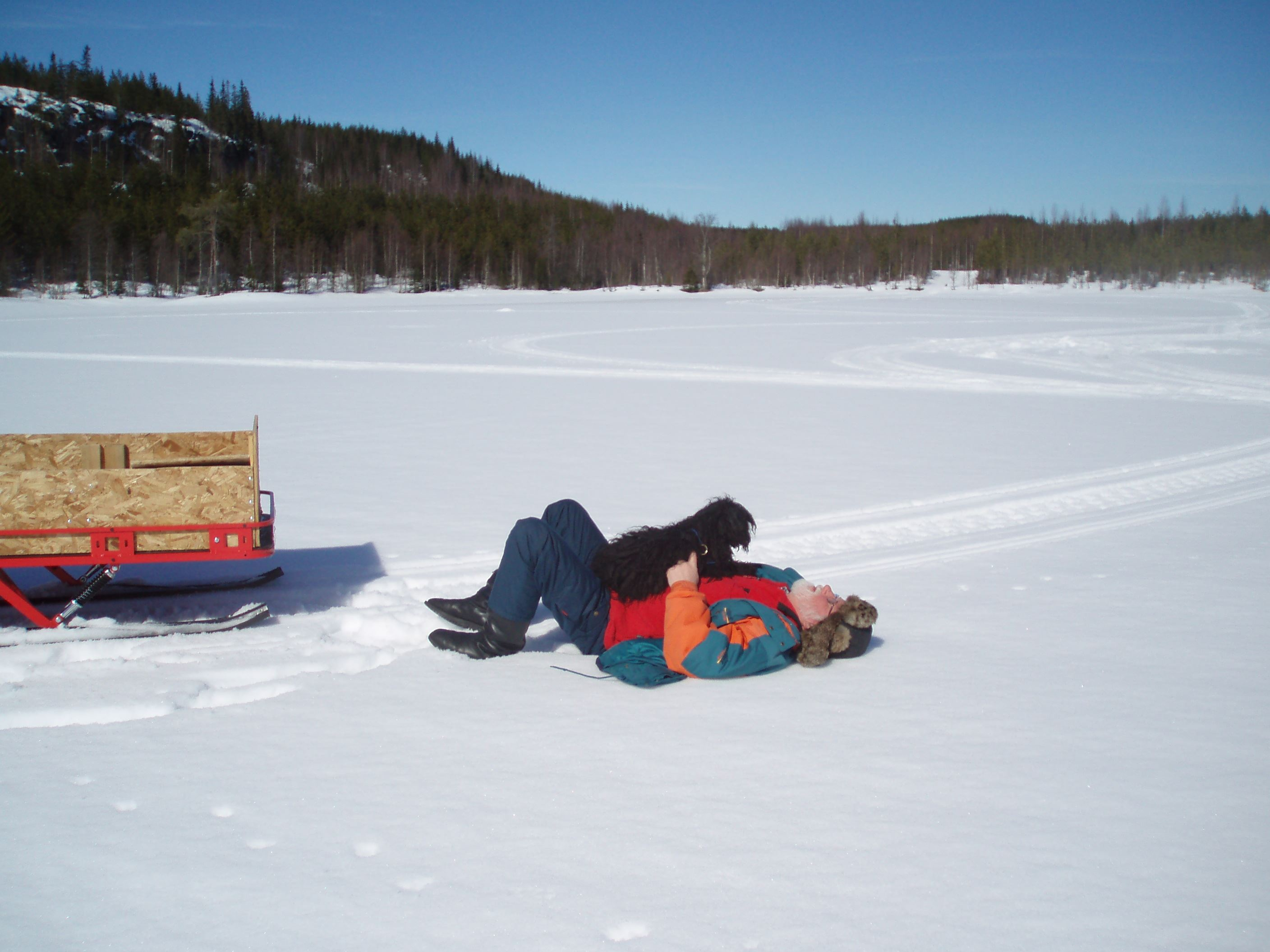 Winterfishing with snowscooter