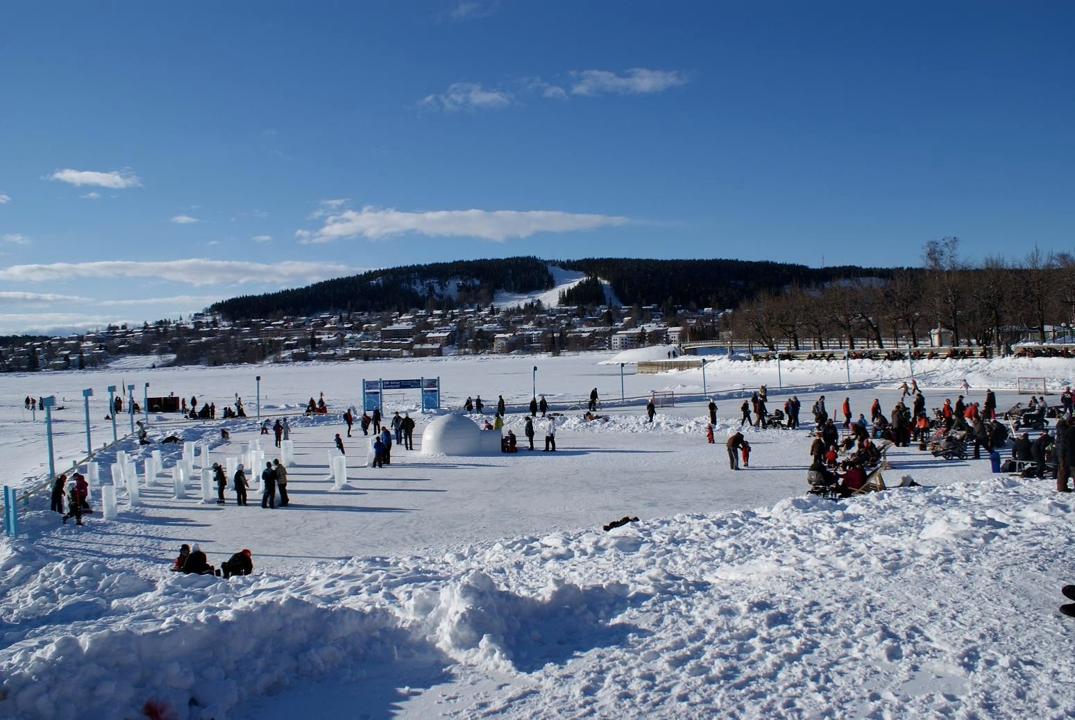 Foto: Vinterparken,  © Copy: Vinterparken, A playground of snow and ice