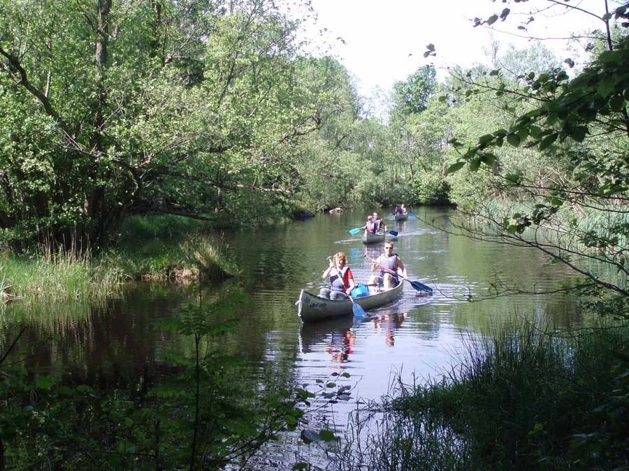 Canoeing on Ivösjön and Holjeån