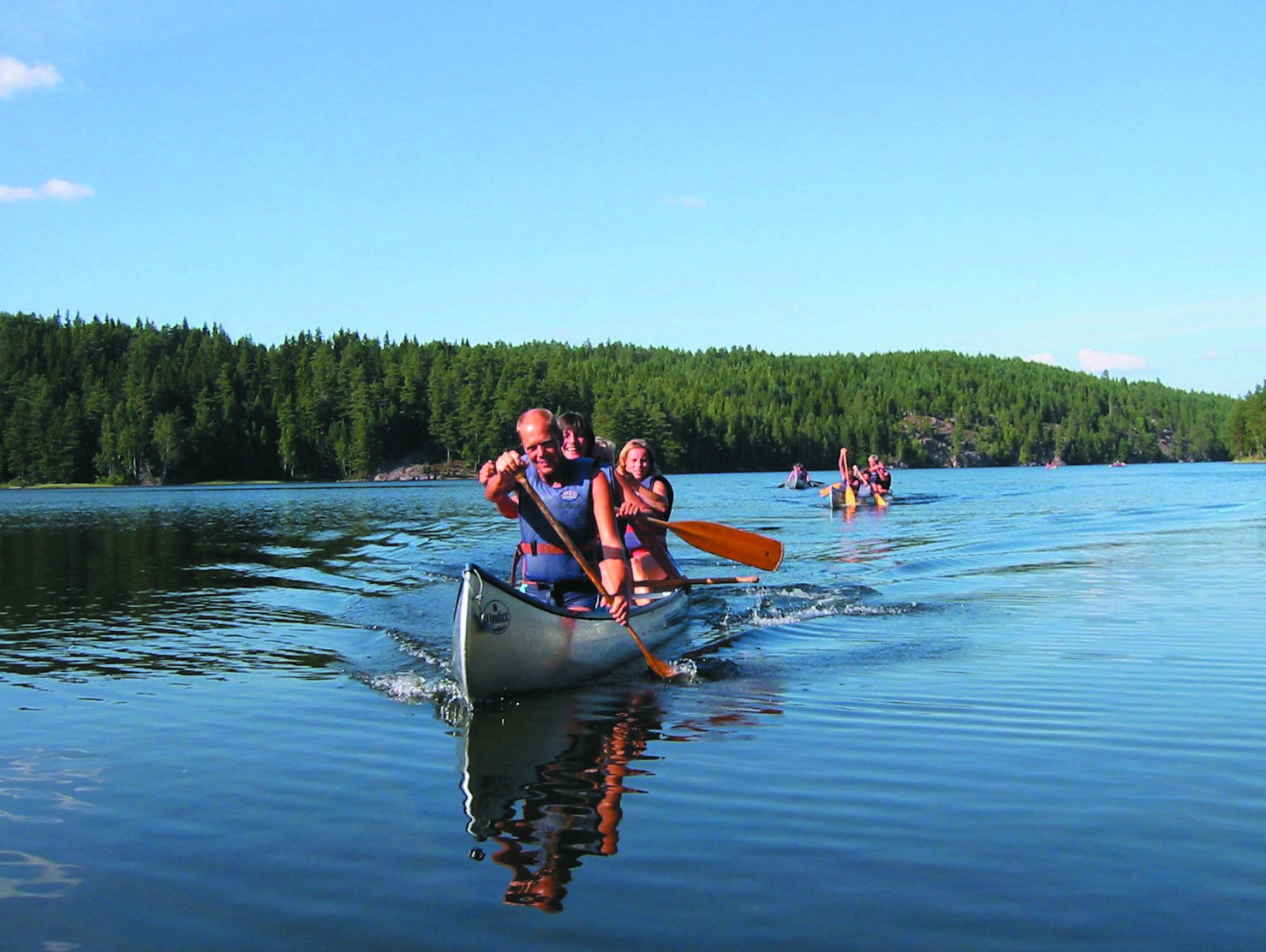 Canoeing on the beautiful lakes in Dalsland
