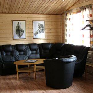 Ansia resort - Stuga (4 bäddar, 2 sovrum, 47m², WC/dusch/bastu, husdjur ej tillåtna)