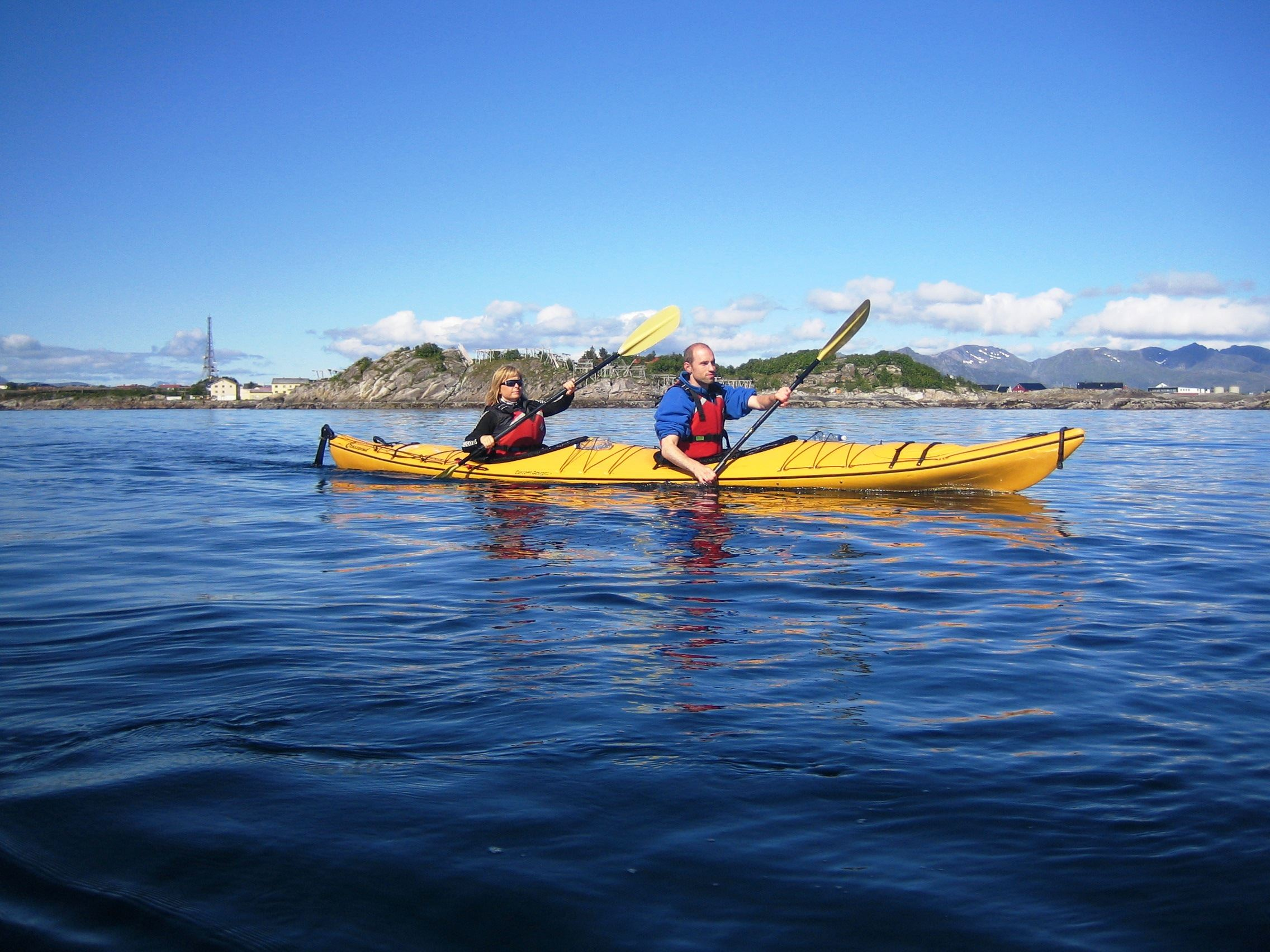 Kayaking from Svolvær harbour