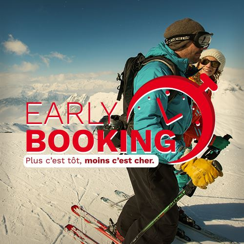 "Our best Early Booking offers "" accomodation + ski pass"" - From €189/pers"