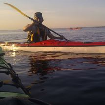 Midnight kayaking