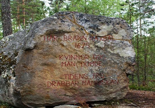© Kramfors kommun, Minnessten på Häxberget