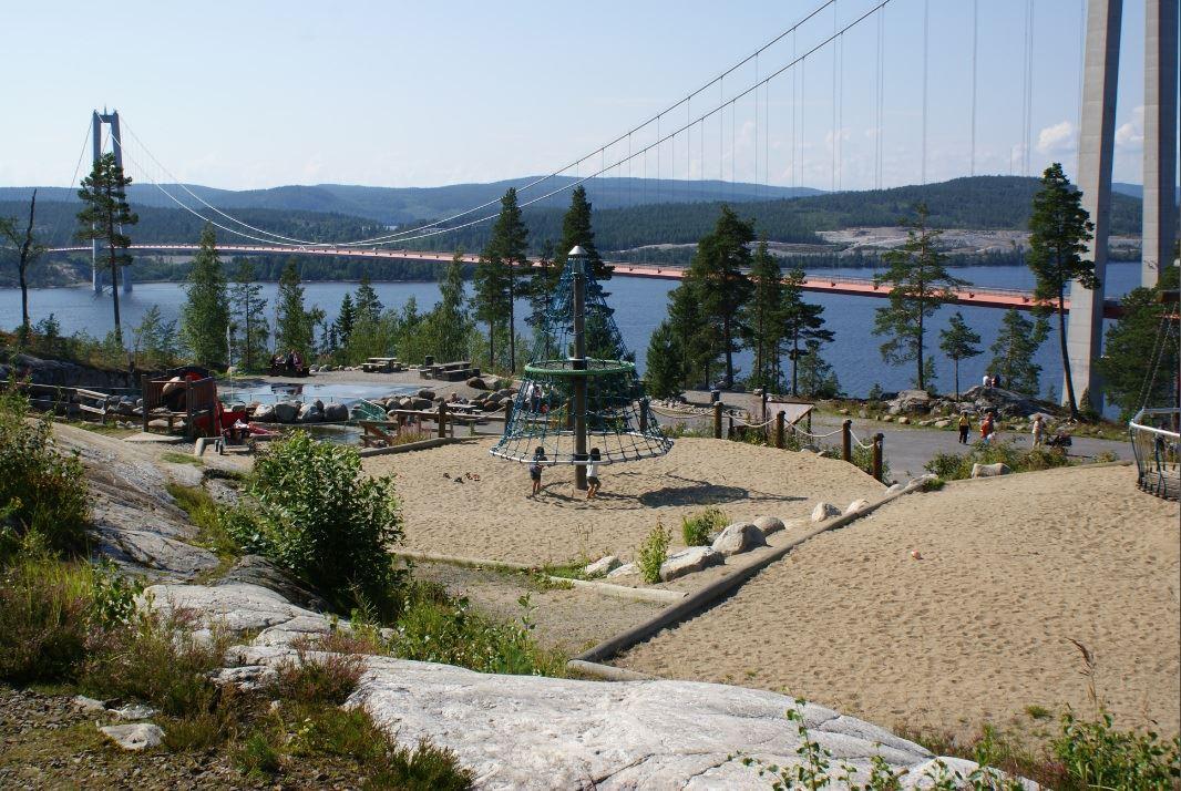 © Kramfors kommun, Lekplats på Hornöberget