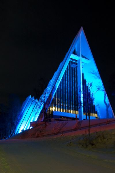 Nordlyskonsert i Ishavskatedralen