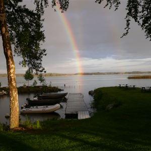 Mjölknabbens Camping,  © Mjölknabbens Camping, Regnbåge öven Åsnen
