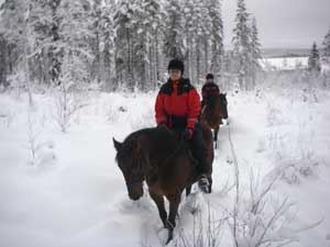 Riding in winter country