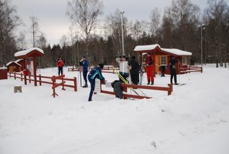 Cross-country skiing at Karlsnäsgården