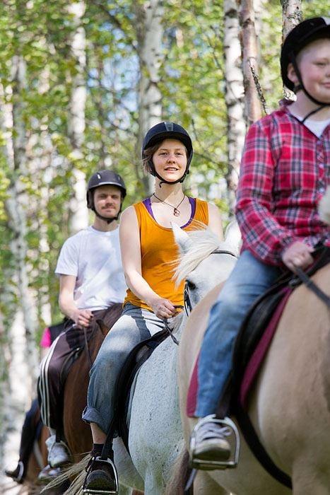 Horse Trekking at Backfors Farm