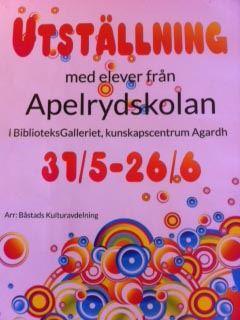 Utställning med elever från Apelrydskolan