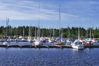 Bredviks båthamn i Obbola