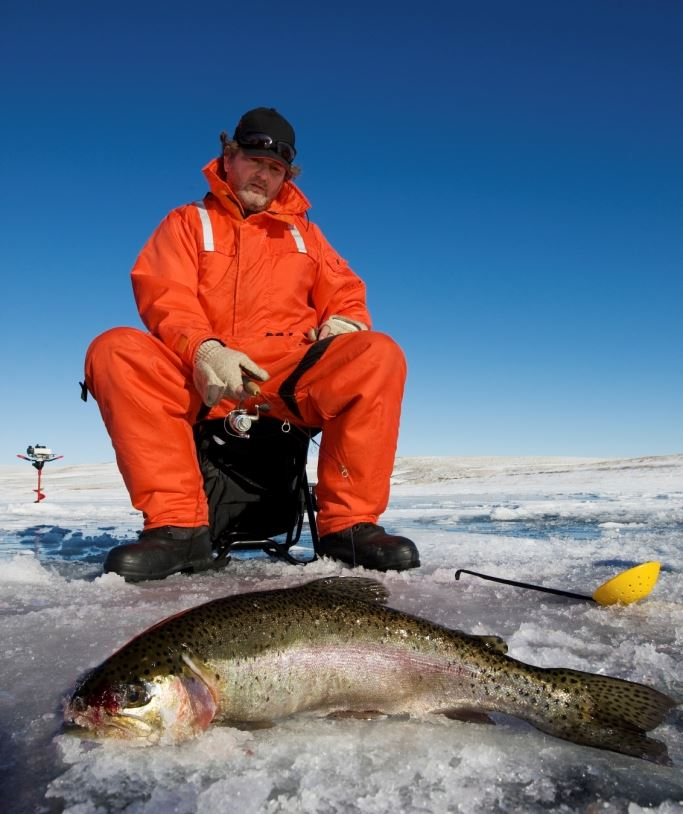 Vinterfiske i Umeå