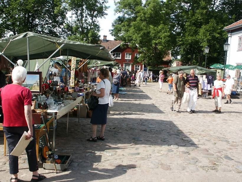 Fleamarket at the Old Square in Ljungby