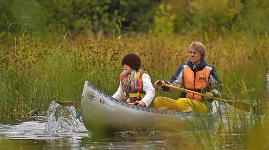 Kanoeing on the lake Nydalasjön
