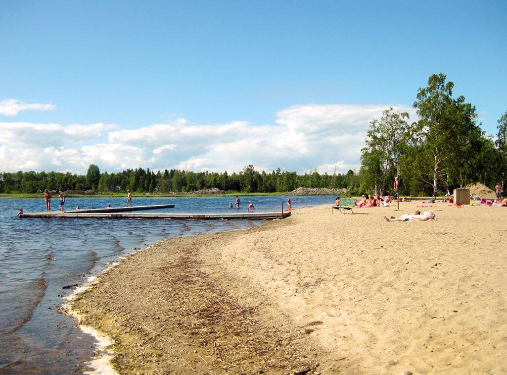 Bada i Stöcksjön