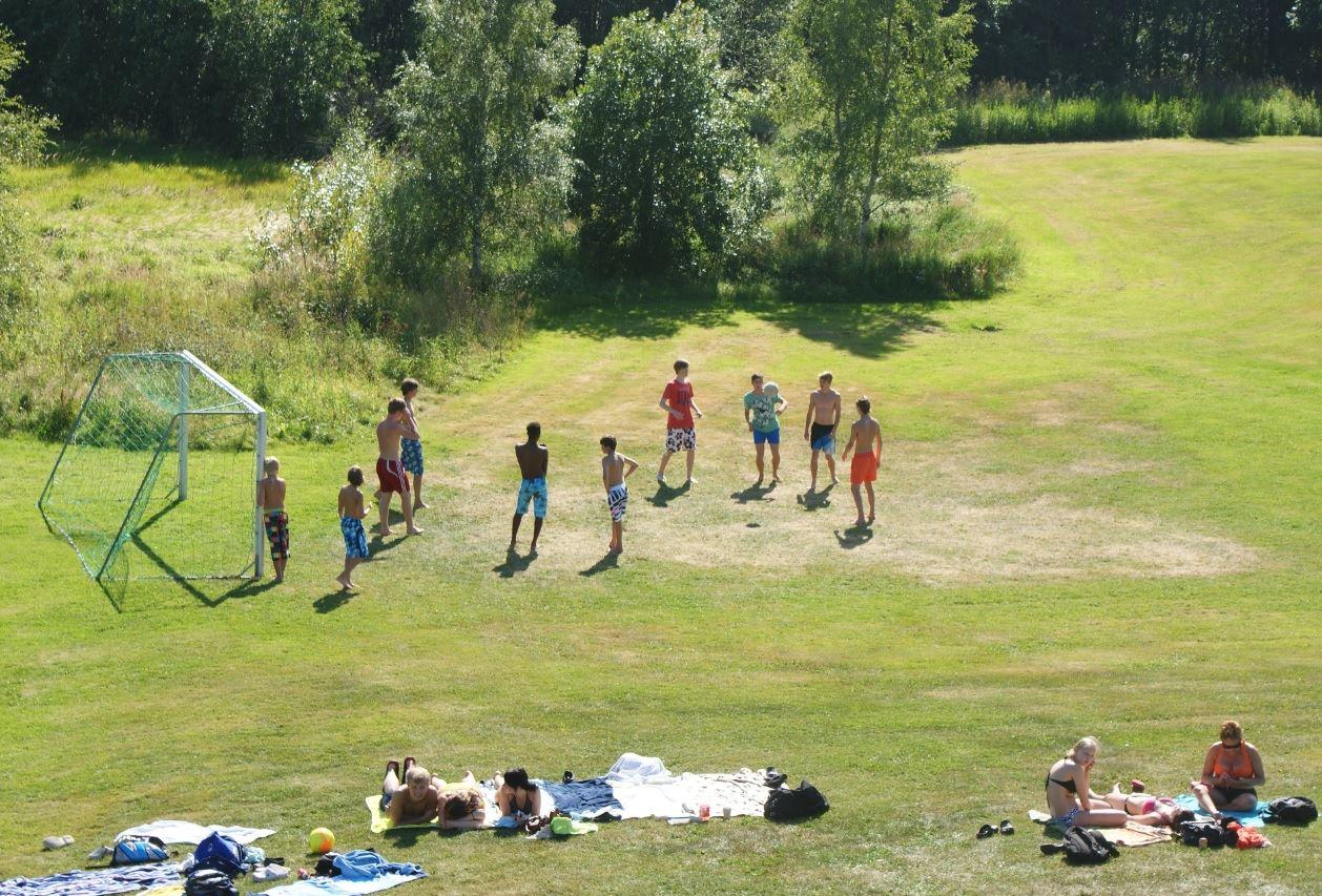© Kramfors kommun, Fotboll vid Flogstabadet