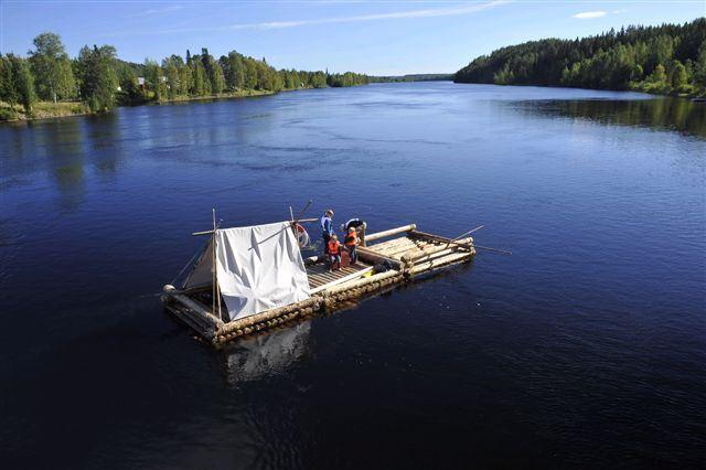 Timmerflotte på Umeälven