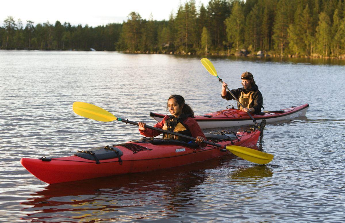 Relaxing kayak trip
