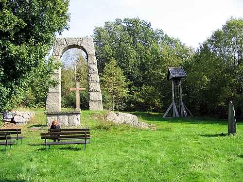 Kyrkplatsen i Bosgård