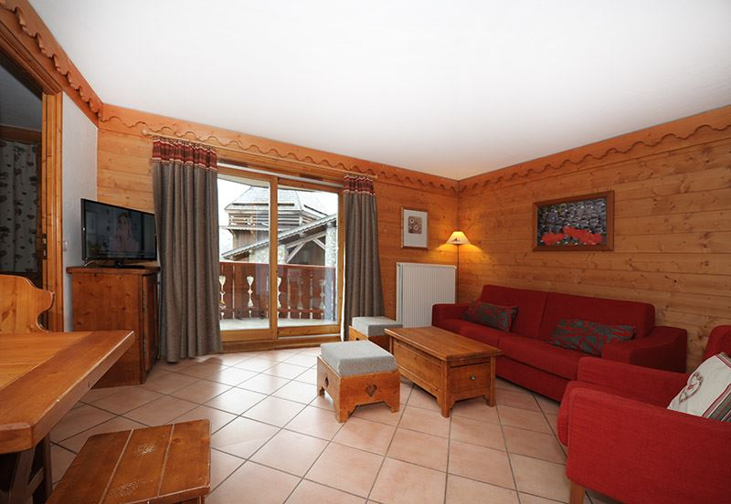 3 Rooms 6 Pers ski-in ski-out / ALPAGES DE REBERTY 6