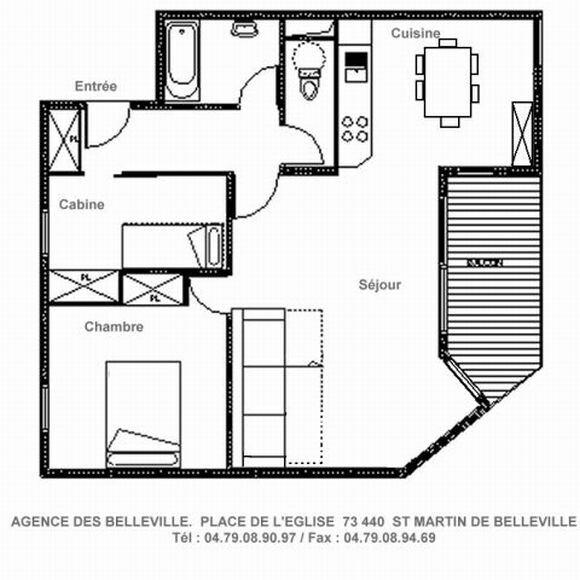 2 Rooms cabin 6 Pers ski-in ski-out / BALCONS DE TOUGNETTE 23