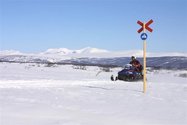 Funäsfjällen/Ljungdalsfjällen Skoterledskort, 610 km skoterled