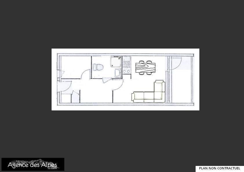 Studio cabin 4 Pers 200m des pistes / ARGOUSIER 215