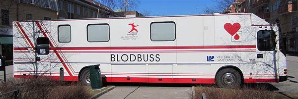 Blodbussen kommer till Tärnaby