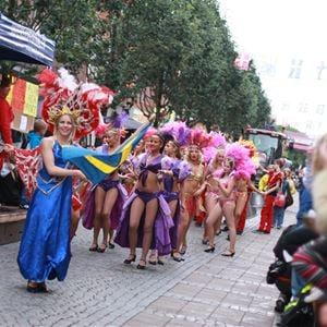 Festival parade samba dancers