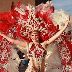 Samba dancer from the festival parade