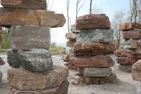 Der geologische Garten und Felsenpfad