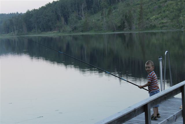 Fiske vid fuckesjön, Dalsro stugor