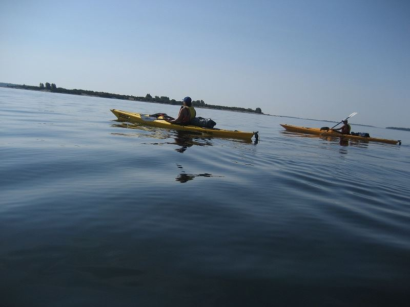 Kayaking in the archipelago & camping at dusk.