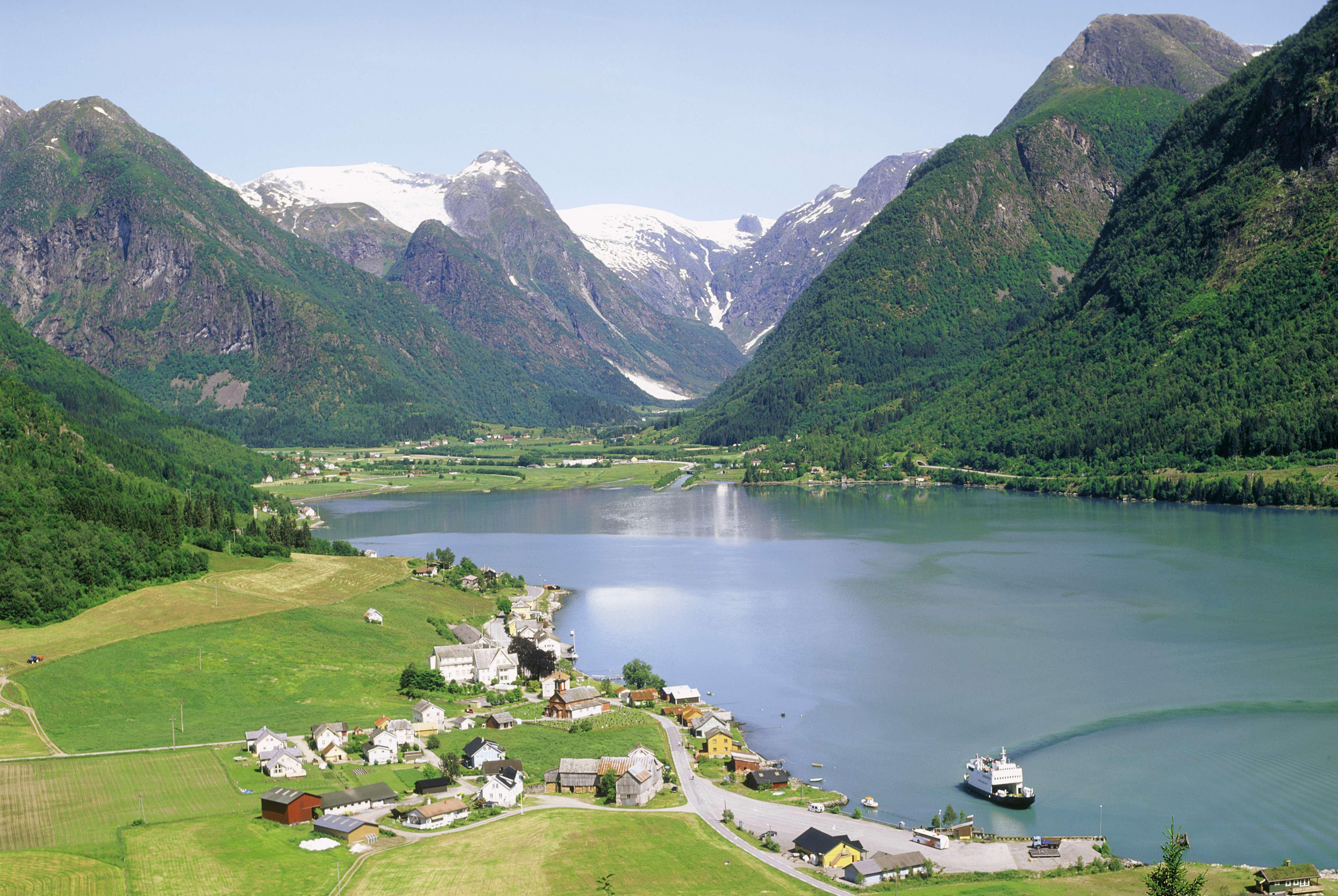 Utsikt over Fjærland