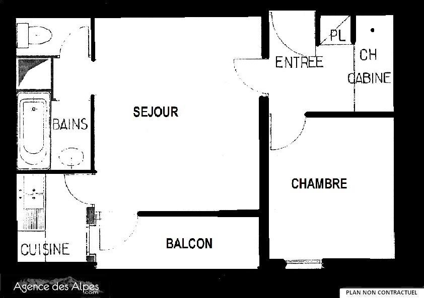 2 Rooms 6 Pers ski-in ski-out / JETAY 137