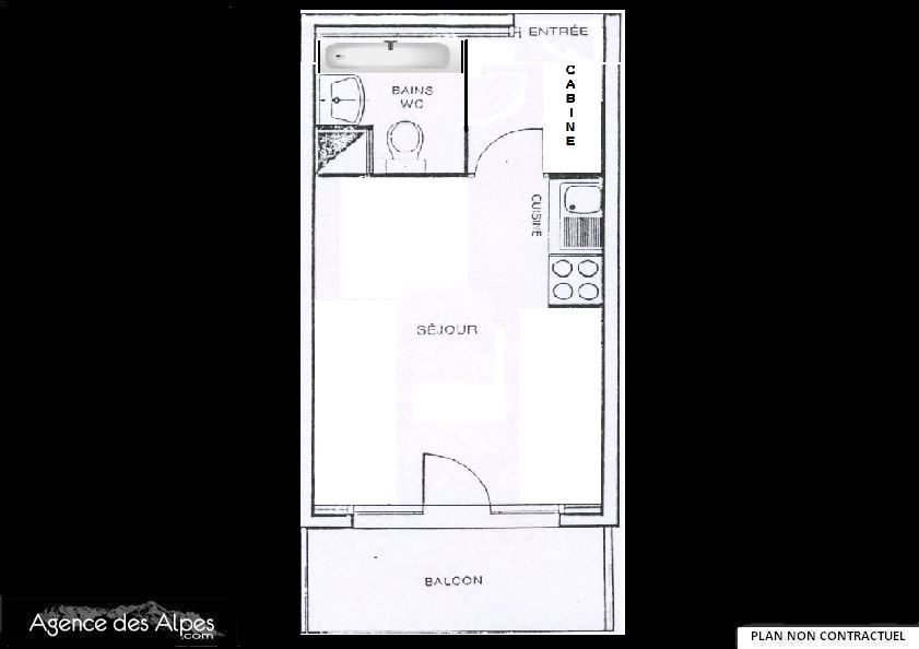 3 Pers Studio 150m from the slope / MEDIAN 227