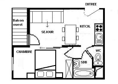 2 Rooms 4 Pers ski-in ski-out / JETAY 54