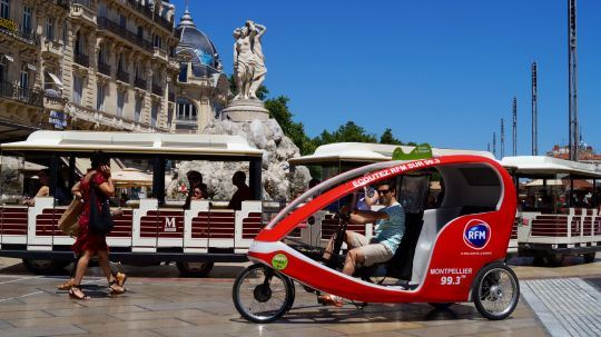 Vélo-taxi : visite commentée (1h)