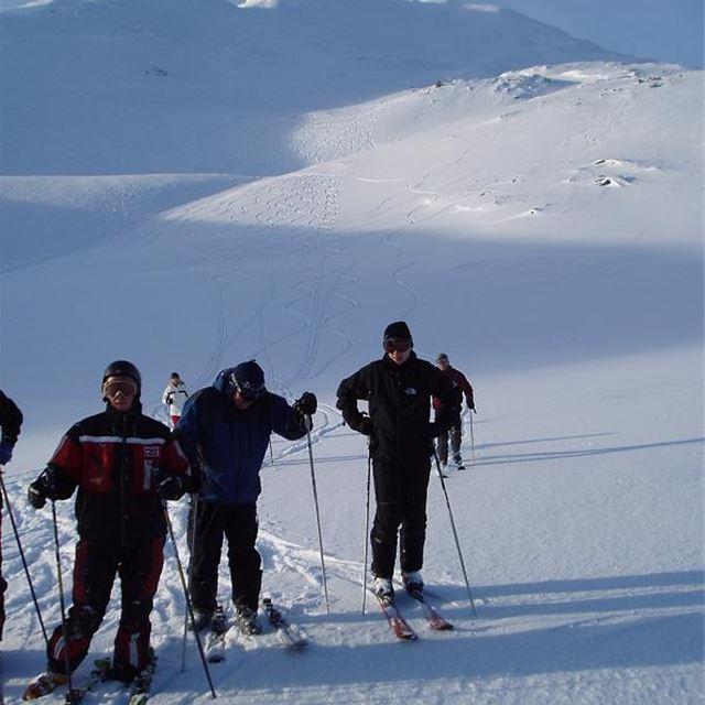 Skidbestigning med guide